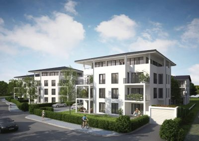 Neubau eines Mehrfamilienhauses mit 22 Wohnungen und  einer Tiefgarage in der Altstadt von Weilheim