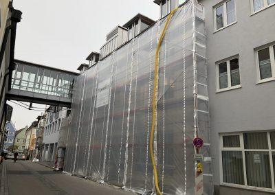 Fassadensanierung der Hauptstelle der Sparkasse Oberland in Weilheim