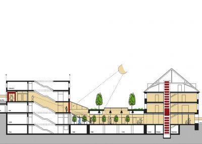 Umbau der Hauptstelle der vereinigten Sparkassen in Murnau; Bauherr: Vereinigte Sparkassen Weilheim